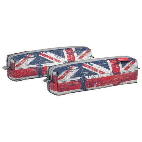 Купить ErichKrause Пенал квадро mini British Flag (44926) белый/красный/синий, Пеналы