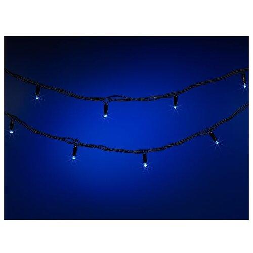 Фото - Гирлянда SNOWMEN Стринг-Лайт, 1000 см, 60 ламп, синий/черный провод гирлянда neon night твинкл лайт 100 led 1000 см 100 ламп синий черный провод