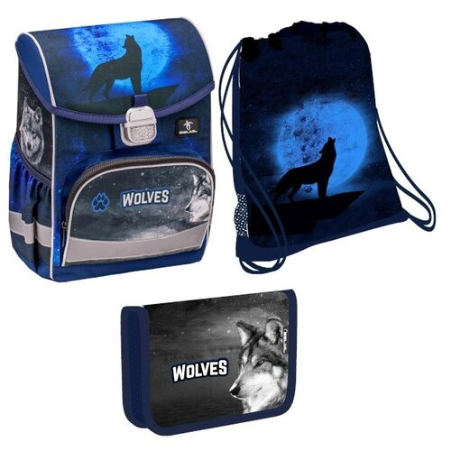 Belmil Ранец Click Wolves с наполнением (405-45/867/SET), синий