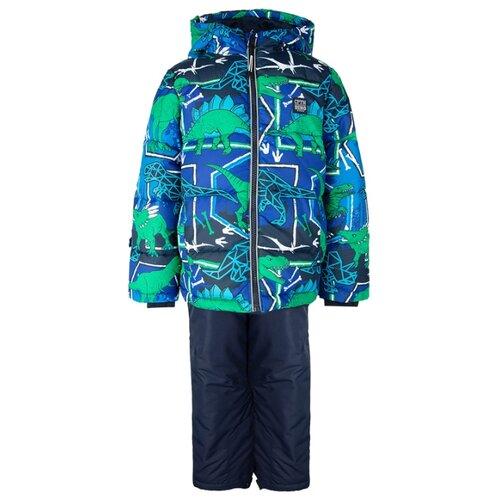 Купить Комплект с полукомбинезоном playToday 32012033 размер 116, темно-синий/зеленый, Комплекты верхней одежды