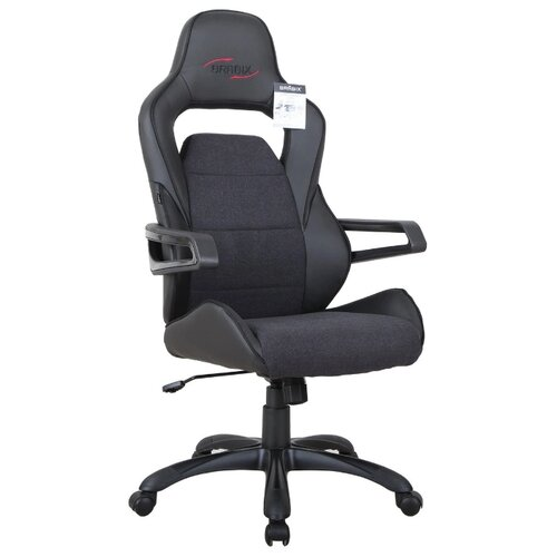 Компьютерное кресло Brabix Nitro GM-001 игровое, обивка: искусственная кожа, цвет: черный компьютерное кресло brabix nitro gm 001 игровое обивка искусственная кожа цвет черный
