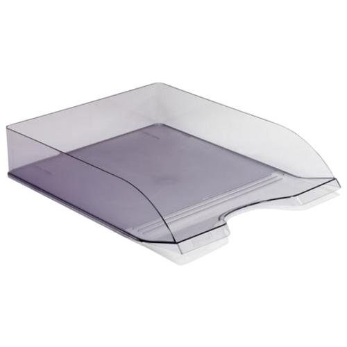 Купить Лоток горизонтальный для бумаги СТАММ Дельта тонированный серый, Лотки для бумаги