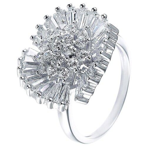 ELEMENT47 Кольцо из серебра 925 пробы с фианитами CAS2424-KO-001-WG, размер 17