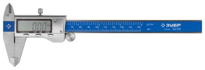 Цифровой штангенциркуль ЗУБР Эксперт 34463-150 150 мм, 0.01 мм