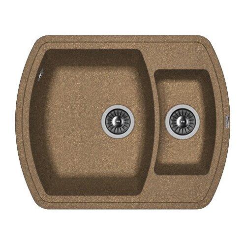 Фото - Врезная кухонная мойка 63 см FLORENTINA Нире-630К FG коричневый врезная кухонная мойка 63 см florentina нире 630к fg песочный