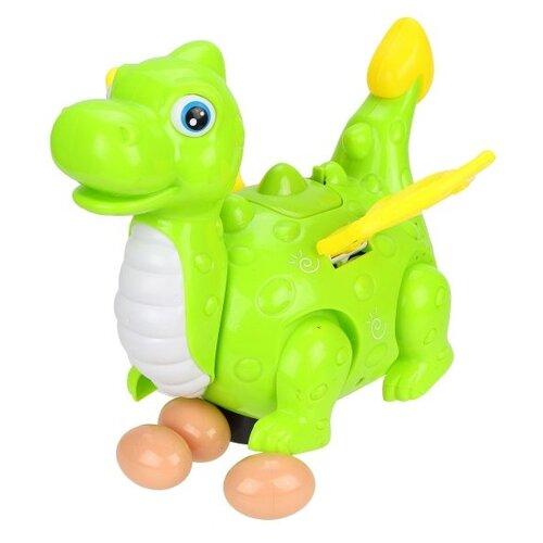 Развивающая игрушка Наша игрушка Дракончик-мама V77A зеленый игрушка наша игрушка бульдозер 6655 5