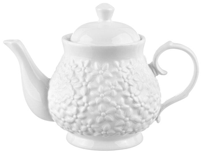 Купить Чайник 430 мл 17х9,5х12 см Elan Gallery Цветочки по низкой цене с доставкой из Яндекс.Маркета