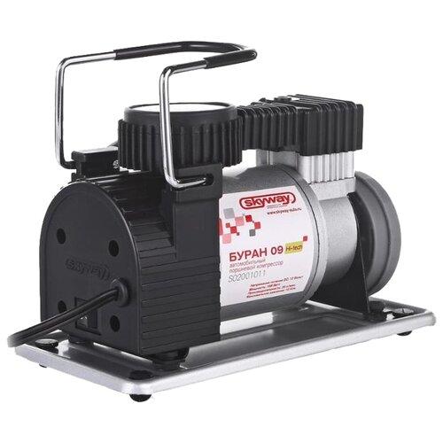 Автомобильный компрессор skyway Буран-09 черный/серебристый