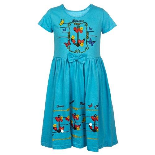 Купить Платье M&D размер 116, бирюзовый, Платья и сарафаны