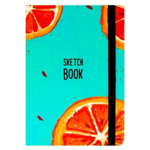Купить Скетчбук Проф-Пресс Апельсин 21 х 14.8 см (A5), 100 г/м², 80 л., Prof-Press, Альбомы для рисования