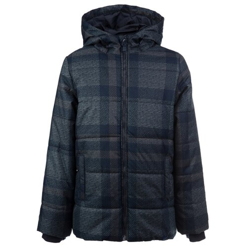 Куртка playToday Classic 2020 22011076 размер 128, серый/темно-синий куртка playtoday 393022 размер 128 темно синий
