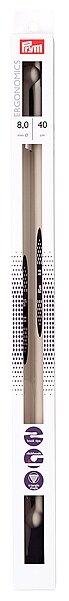 Спицы Prym полимерные Ergonomics диаметр 8 мм, длина 40 см