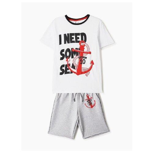 Купить Комплект одежды Elaria размер 134, белый/серый, Комплекты и форма