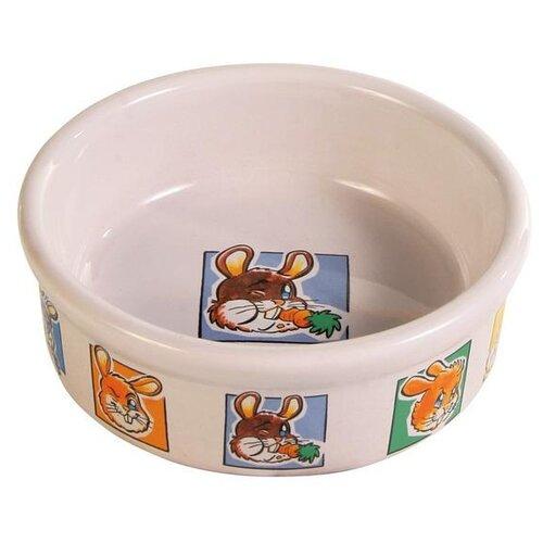 Миска TRIXIE 62953 для кроликов, 300 мл кремовый