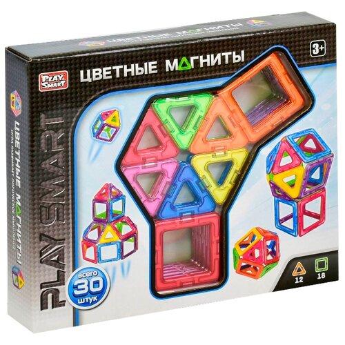 Магнитный конструктор Play Smart Цветные магниты 2427