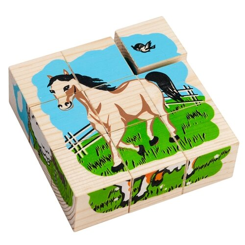 Кубики-пазлы Томик Домашние животные 4444-3 кубики пазлы томик транспорт
