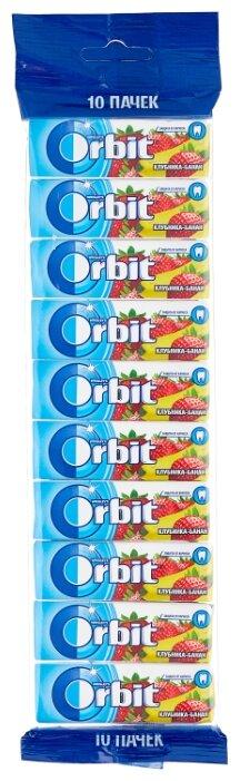 Жевательная резинка Orbit Клубника-банан, без сахара 10 шт.