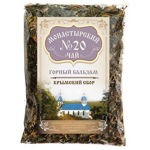 Фото - Чай травяной Крымский чай Монастырский № 20 Горный бальзам, 100 г чай травяной aroma монастырский 100 г