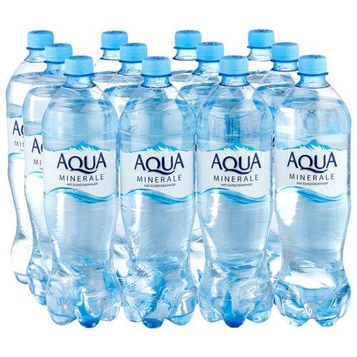 Вода питьевая Aqua Minerale негазированная, ПЭТ, 12 шт. по 1 л вода питьевая aqua minerale active негазированная цитрус спорт пэт 12 шт по 0 5 л