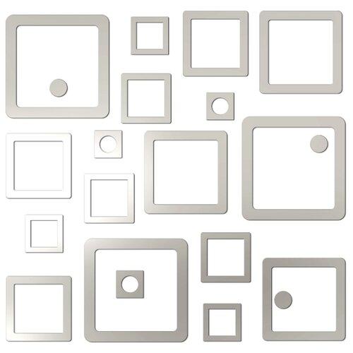 Комплект наклеек Ваша Светлость Каре-3, зеркальные, многоразовые фото