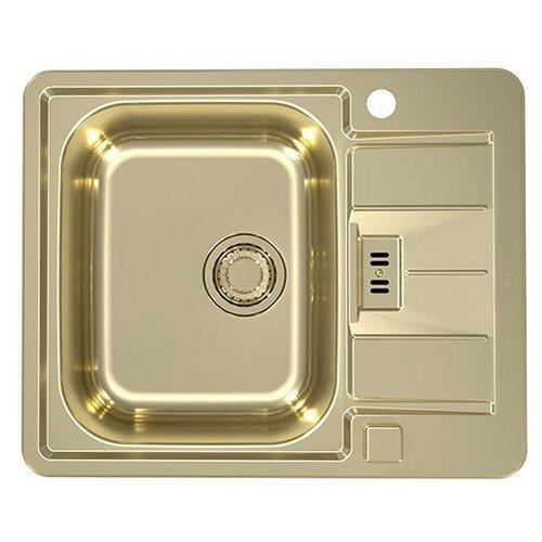 Фото - Врезная кухонная мойка 61.5 см ALVEUS Monarch Line 60 gold врезная кухонная мойка 60 5 см granmill 024 24чер черный
