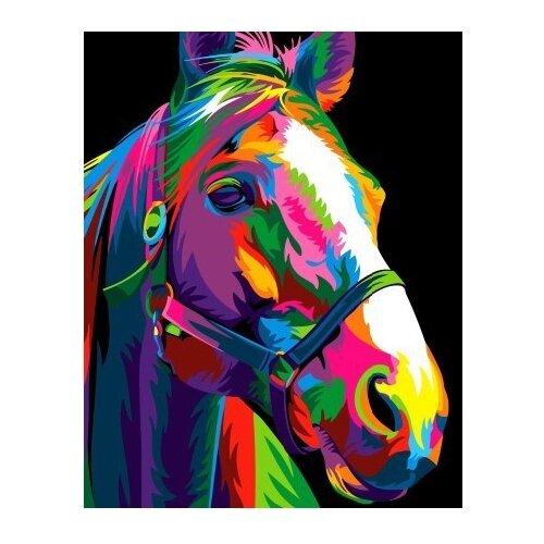 Купить ВанГогВоМне Картина по номерам Разноцветная лошадь , 40х50 см (ZX 22260), Картины по номерам и контурам