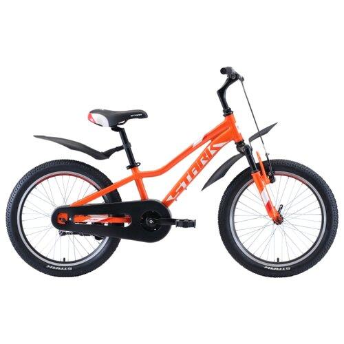 Подростковый горный (MTB) велосипед STARK Rocket 20.1 S (2020) оранжевый/белый/красный (требует финальной сборки)