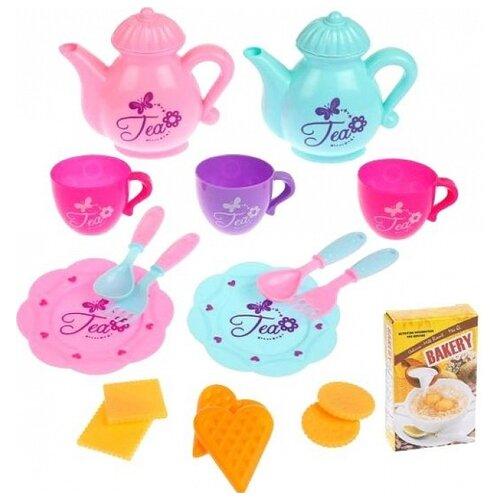 Набор продуктов с посудой Наша игрушка Посуда JH313-1 в ассортименте набор продуктов с посудой наша игрушка в корзинке xs16003b голубой розовый белый