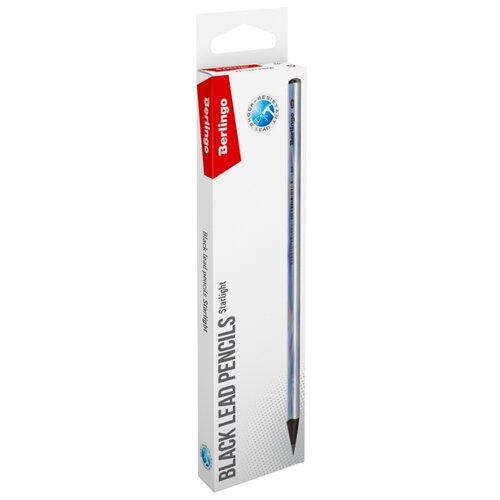 Купить Berlingo Набор чернографитных карандашей Starlight (BP01170_12R), Карандаши