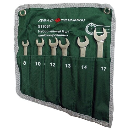 Набор гаечных ключей Дело Техники (6 предм.) 511061 набор отверток дело техники 728040