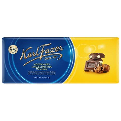 Шоколад Fazer молочный с цельным фундуком 30% какао, 200 г