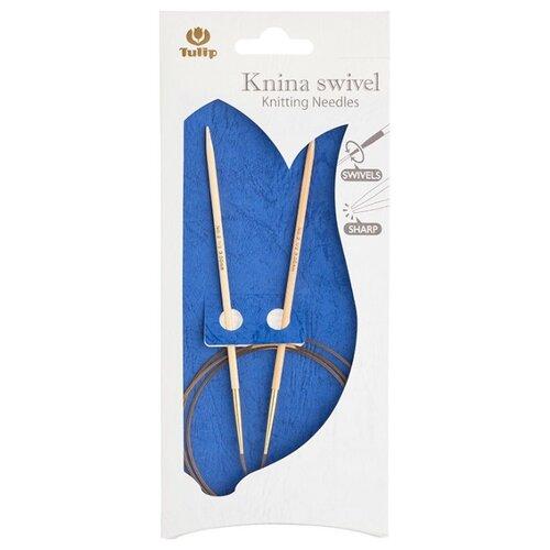 Купить Спицы круговые Knina Swivel 9мм/100см, бамбук, натуральный, Tulip, KS-1000900
