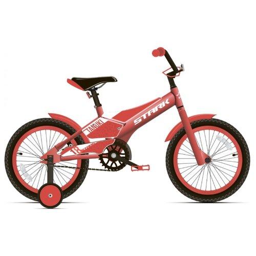 Детский велосипед STARK Tanuki 18 Boy (2020) красный/белый (требует финальной сборки)