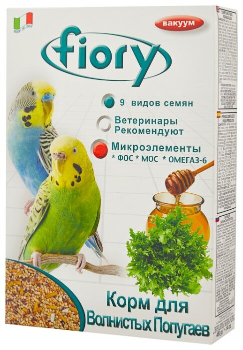 Fiory корм Pappagallini для волнистых попугаев 400 г