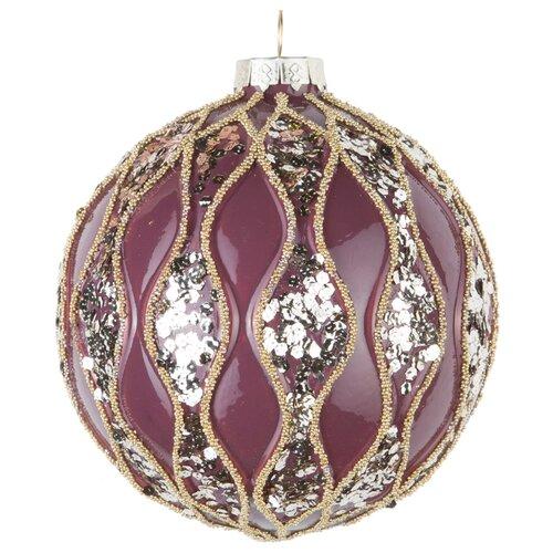 Набор шаров KARLSBACH 08495, фиолетовый с серебряными пайетками