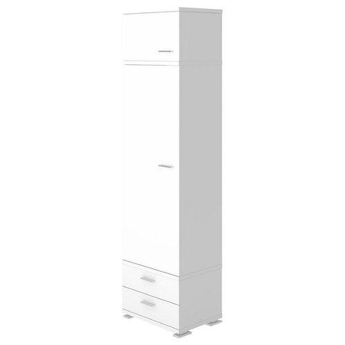 Шкаф-пенал для одежды Мэрдэс Домино Нельсон КС-10, (ШхГхВ): 55.3х42.7х213 см, белый жемчуг