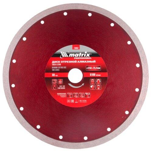Диск алмазный отрезной 250x2.3x25.4 matrix 730867 1 шт. диск отрезной алмазный matrix professional 73180