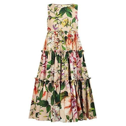 Платье DOLCE & GABBANA размер 128, розовый/цветочный принт