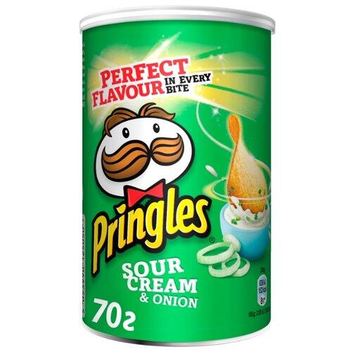 Чипсы Pringles картофельные Sour Cream & Onion, 70 г чипсы pringles картофельные crab 70 г