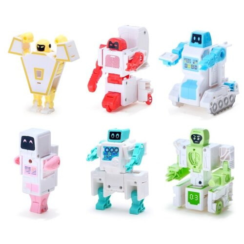 Купить Трансформер Dade Toys Семейный защитник Робот для дома 6 в 1 разноцветный, Роботы и трансформеры