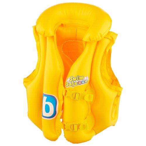 Жилет для плавания Bestway Swim Safe step B 32034 желтый bestway плотик для плавания c сиденьем и спинкой swim safe ступень a bestway