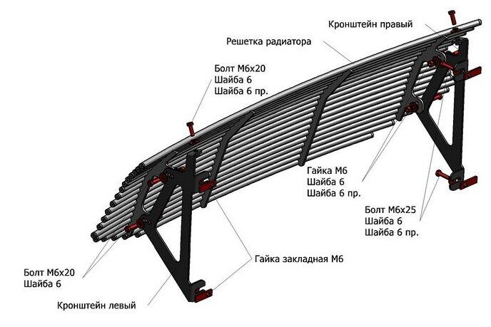 Решетка радиатора RIVAL G.6301.001 для УАЗ Патриот