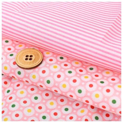 Ткань Арт Узор для пэчворка Яркий момент 120 г/м, 50 x 65 см розовый