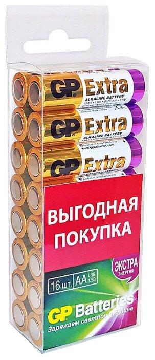 Батарейка GP Extra Alkaline AA — купить по выгодной цене на Яндекс.Маркете