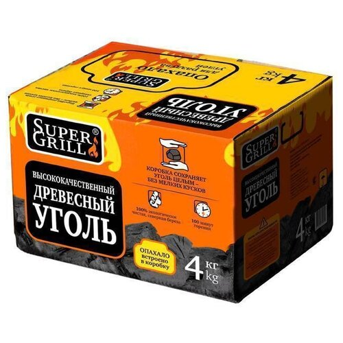 SuperGrill Уголь березовый 4 кг.