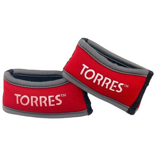цена на Набор утяжелителей 2 шт. 0.25 кг TORRES PL607605 красный/серый