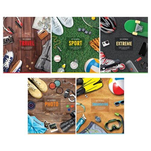 Купить ArtSpace Упаковка тетрадей Увлечения. My journal Т96к_25020, 5 шт./5 дизайнов, клетка, 96 л., Тетради