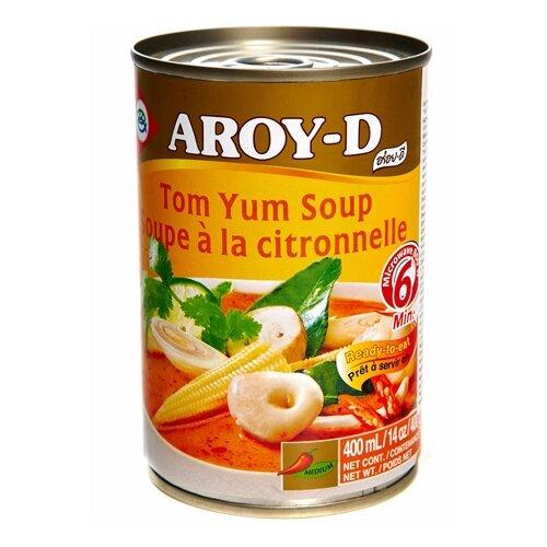 Суп Том Ям Aroy-D жестяная банка 400 г готовый суп aroy d том ям 400 мл