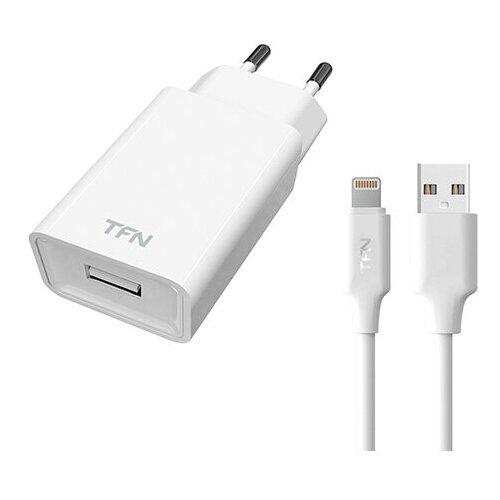 Фото - Сетевое зарядное устройство TFN, 1A, Lightning, белый сетевое зарядное устройство deppa ultra 1a белый 11301