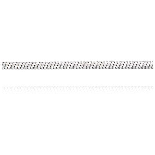 АДАМАС Цепь из белого золота плетения Панцирь одинарный ЦП135УКА6У-А58, 45 см, 4.17 г